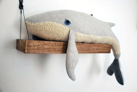 Big Handmade Plush Whale Stuffed Animal 100 Cotton Di Bigstuffed 80 00 Handmade Plush Dolls Handmade Whale Stuffed Animal