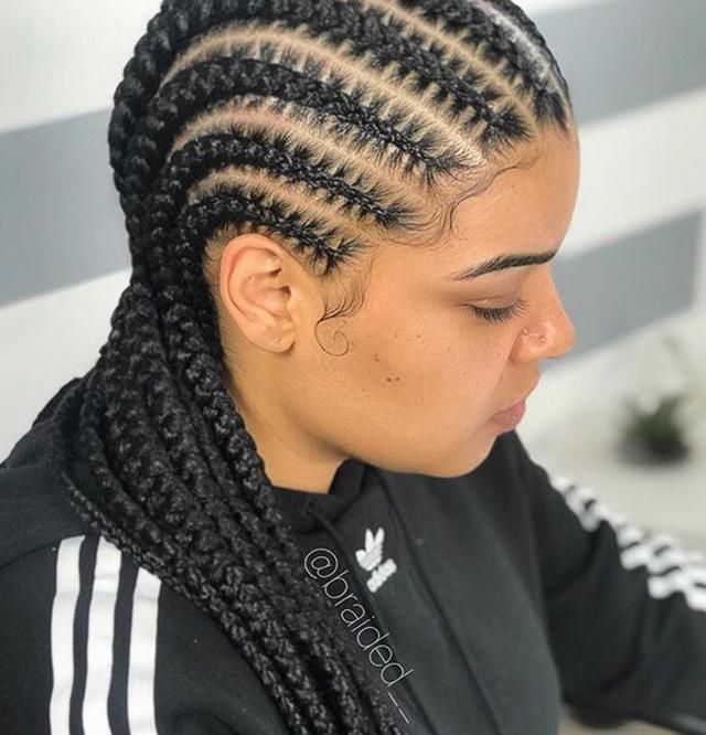 50 Natural Fabulous: 50 Fabulous Braids Hairstyles For Black Queens