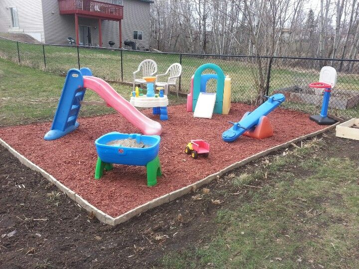 Kids play area - cedar chips groundcover (With images ...