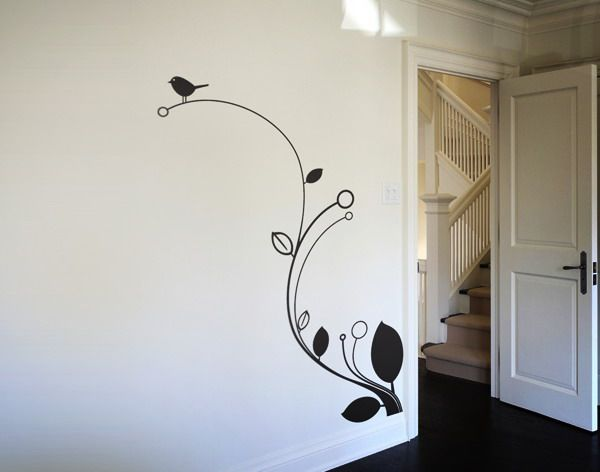 stylish simple wall paintings designs on decor with home interior - Wall Designs For Home