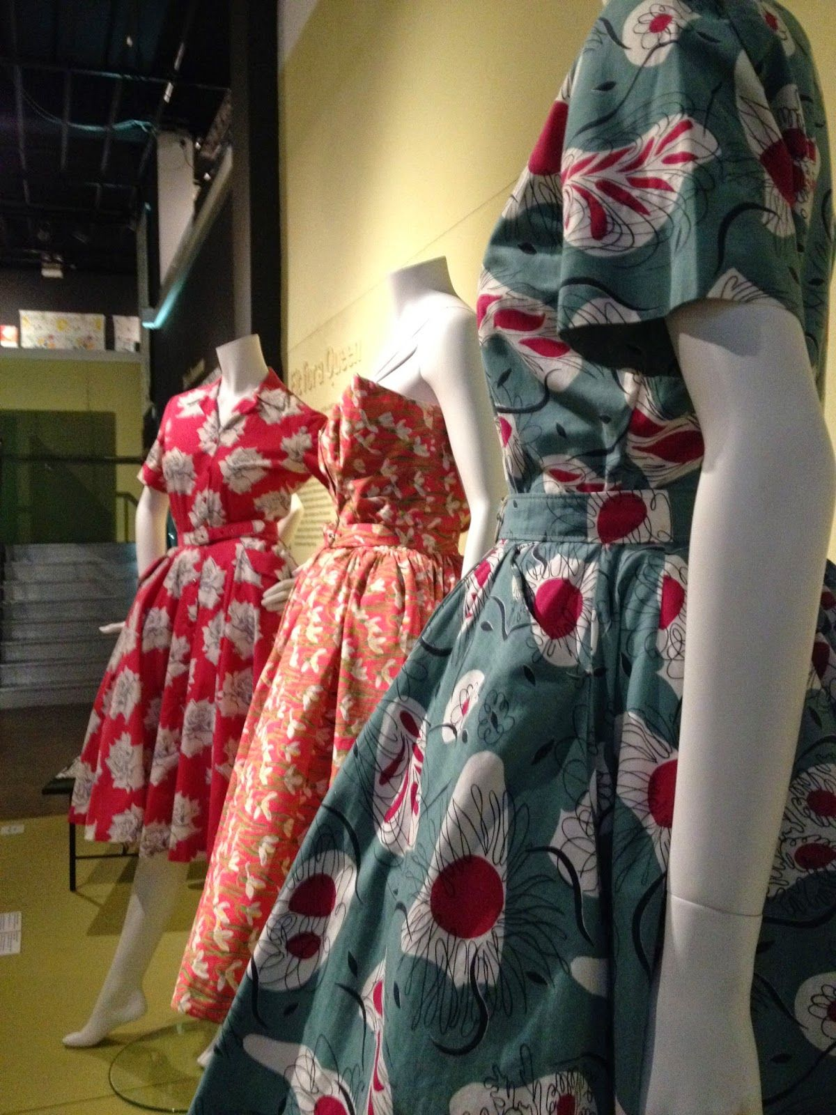 Fashion And Textile Museum London England Warhol To Picasso Exhibition Horrocks Dresses Vintage Lovely Clothes Fashion Vintage Fashion