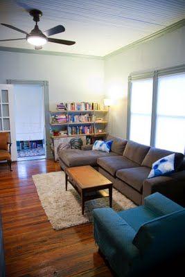Cool Palette Dark Wood Floor Grey Couch Fluffy Tan Rug Would Machost Co Dining Chair Design Ideas Machostcouk