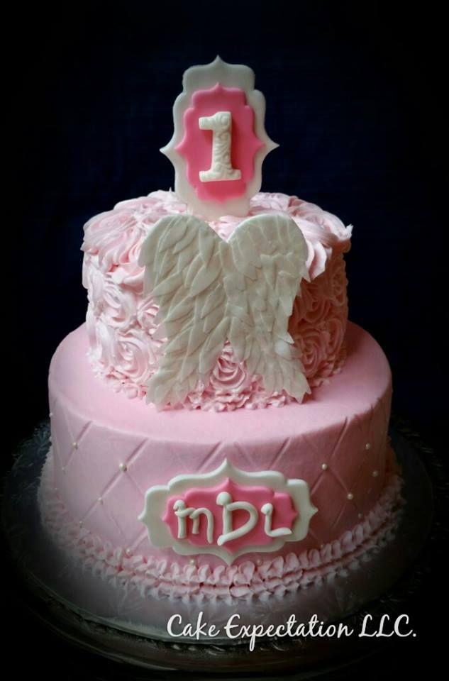 Angel Wings 1st Birthday Cake Little Girl Cake Cupcakes 1st