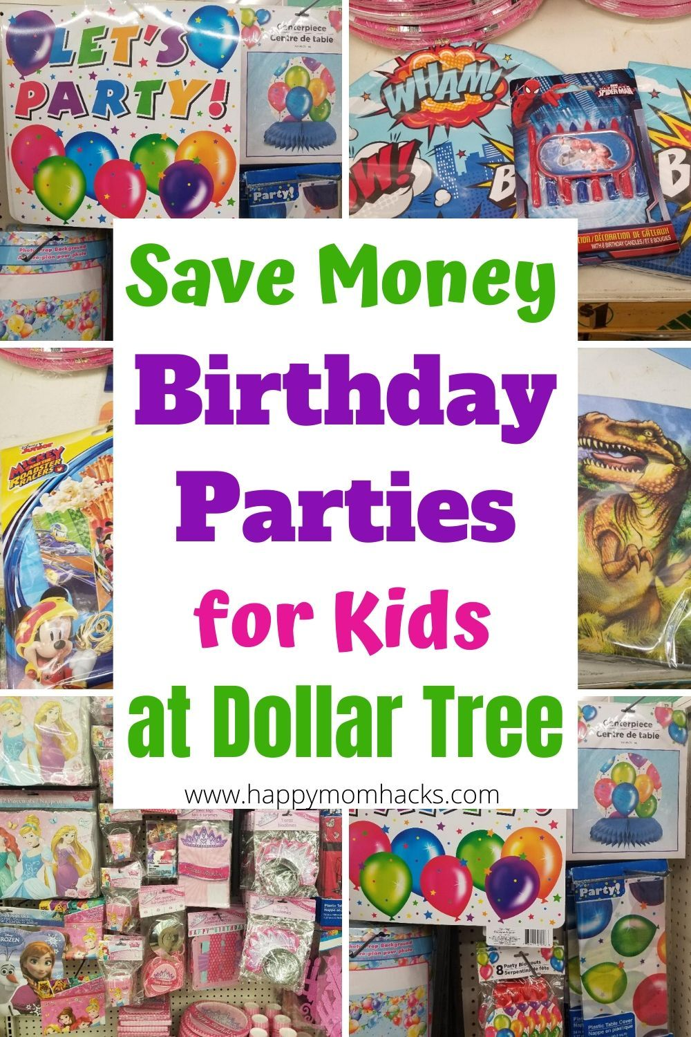 Cheap Birthday Party Decorations For Kids At Dollar Tree Happy