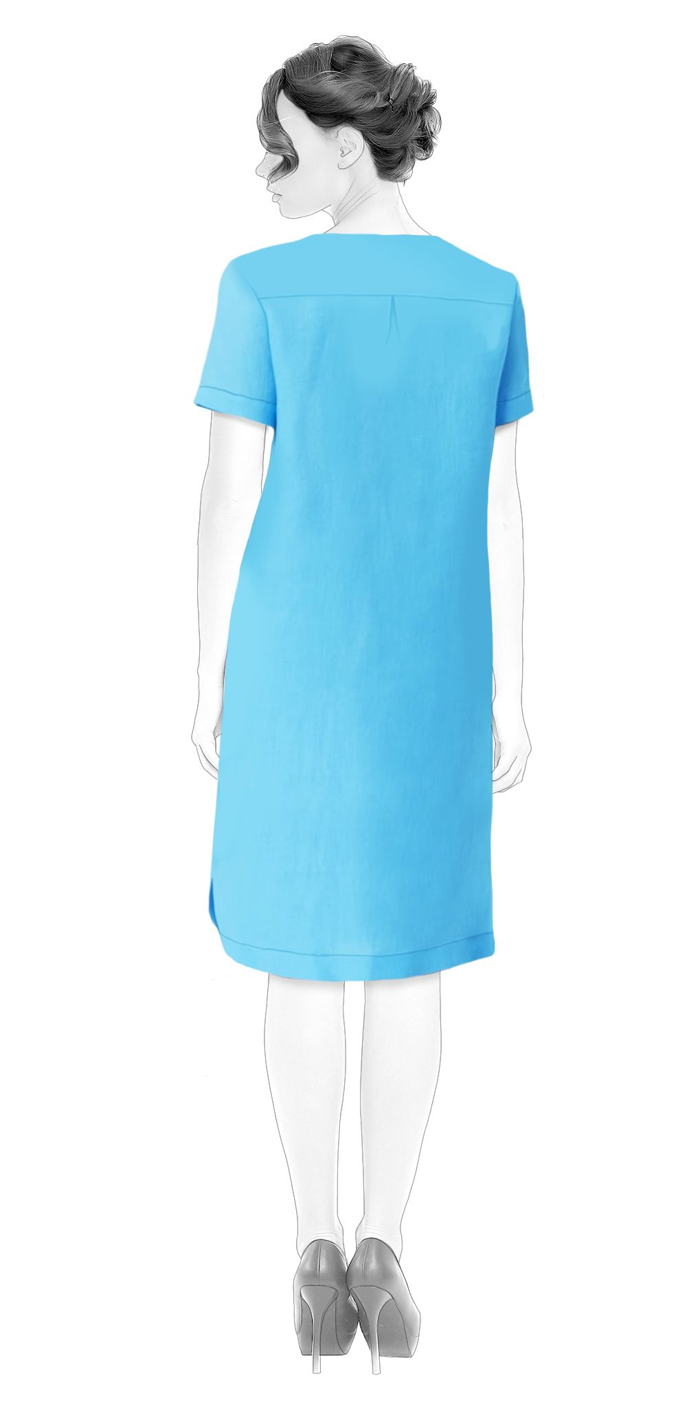 Basic Shirt-Dress - Sewing Pattern #S4006 Made-to-measure sewing ...