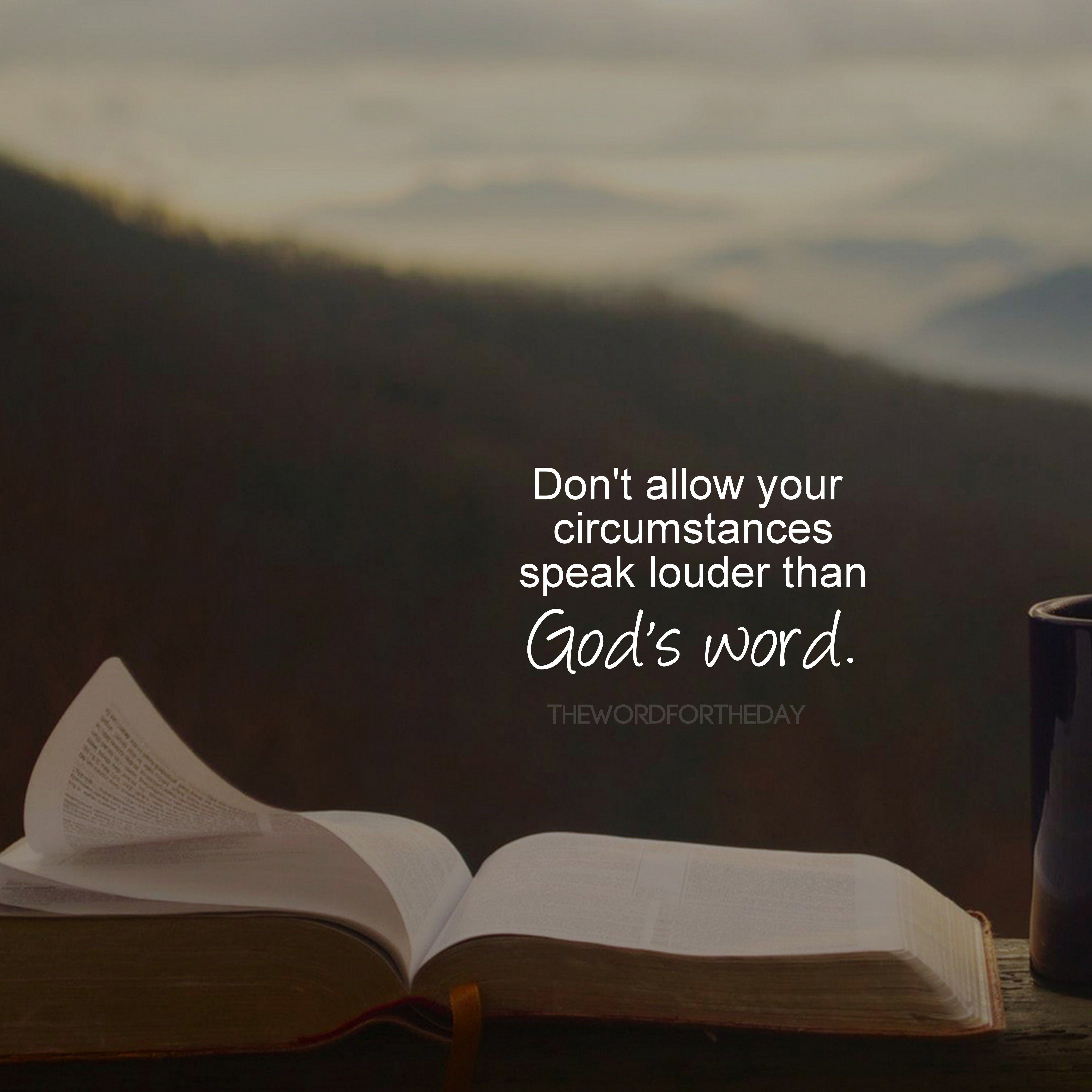 God's Word Quotes Bible Bible Quotes Encouragement Hope The Word For The Day