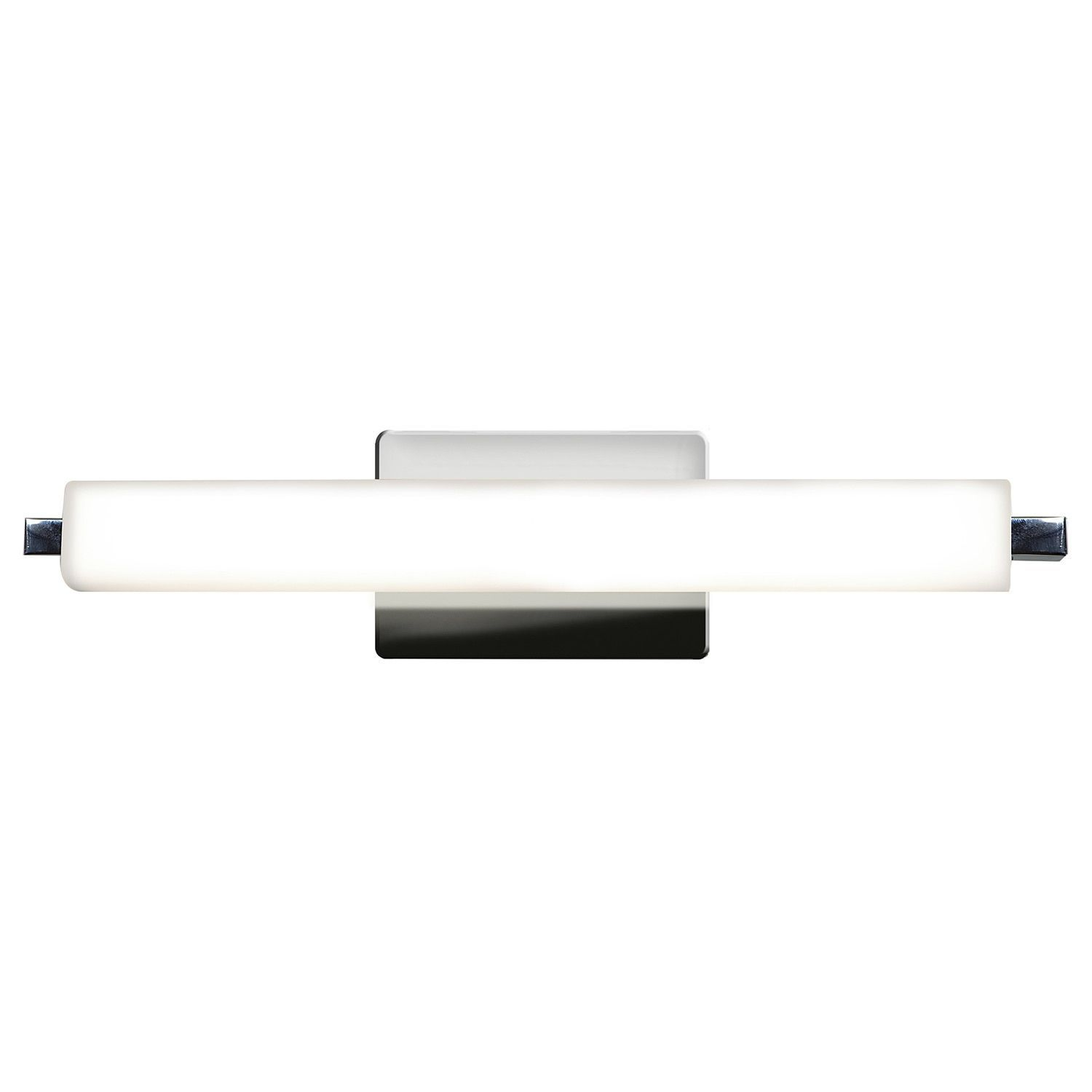 Access Lighting Chic LED 19-inch Vanity (Chrome, Opal), Silver (Glass)