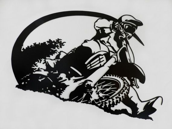Motocross Rider Metal Wall Art