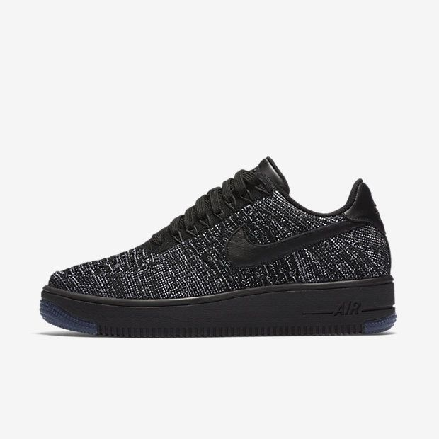 Nike Air Force 1 Flyknit Low W shoes grey heather