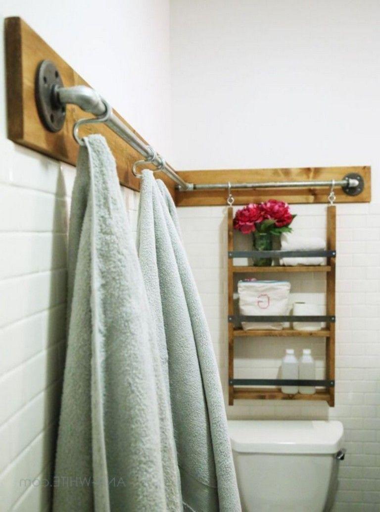 40 Cute Diy Hanging Towel Storage Designs Ideas For Bathroom