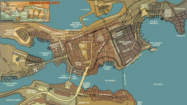 Arkham City Map Batman: Arkham City   What all the easter eggs and secrets tell us  Arkham City Map