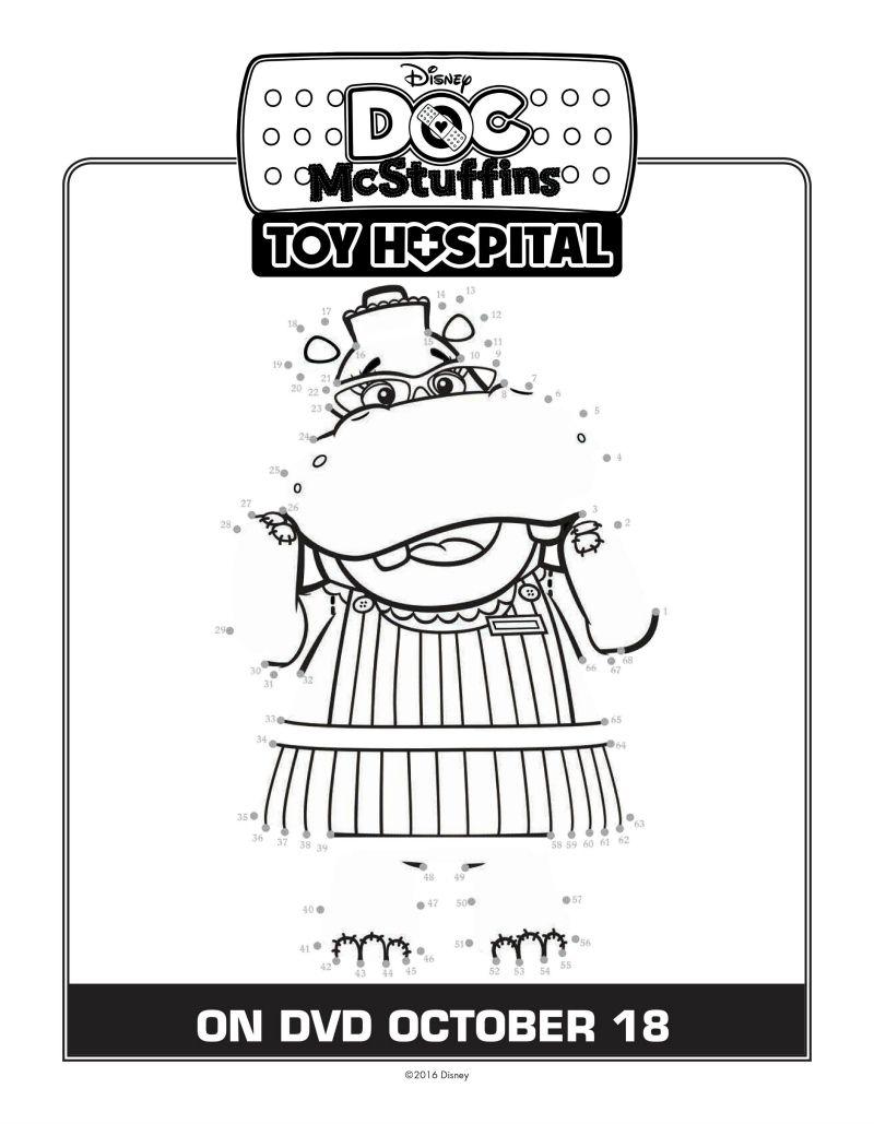 Doc McStuffins Connect The Dots Coloring Page | Printable Coloring ...