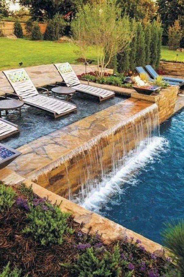 Cozy Swimming Pool Garden Design Ideas On A Budget 15 Swimming Pools Backyard Pool Waterfall Cool Swimming Pools