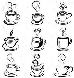 Hand Drawn Coffee Cup Royalty Free Vector Image #coffeecup