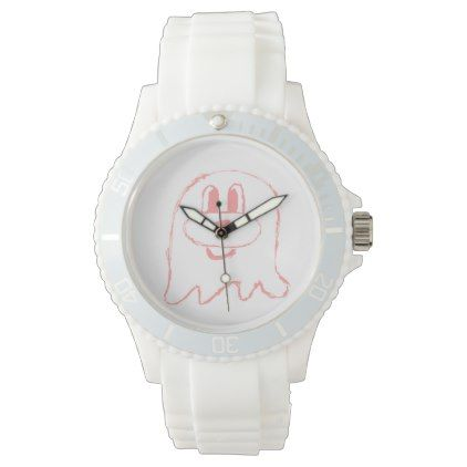Pink 鬼 鬼 Stainless Steel Wristwatch (Sporty) - pink gifts style ideas cyo unique