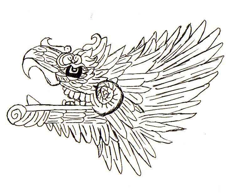 quetzalcoatl aztec drawing - photo #11