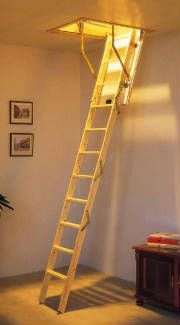 Wooden Small Opening Attic Stairs That Fold Down Attic Stairs