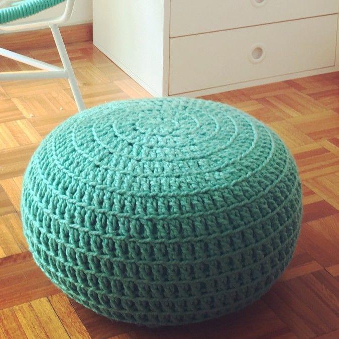 Floor Cushions For Nursery : @LasVaretasCrochet Puff a Crochet / Crochet Ottoman Pouf/ Pouffe / Nursery Footstool / Floor ...