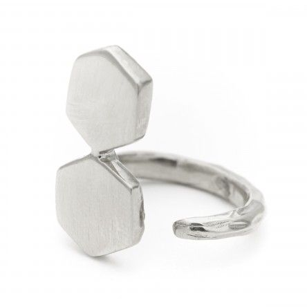Triton Stack Ring: Recycled Sterling Silver