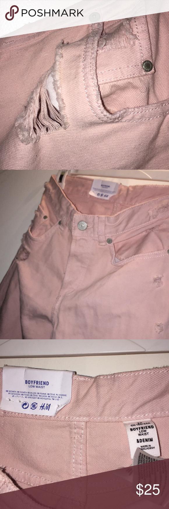 Never Worn Hm Bf Jeans Low Waist 24 Pinkish Boyfriend