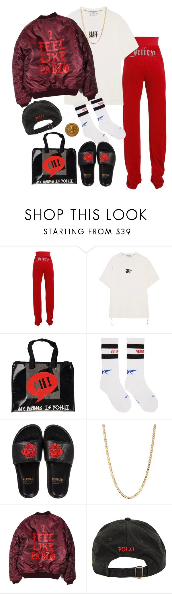"""""""Untitled #1498"""" by artiola-fejza ❤ liked on Polyvore featuring Vetements, Y-3, BUSCEMI, Bianca Pratt, Ralph Lauren and Versace"""