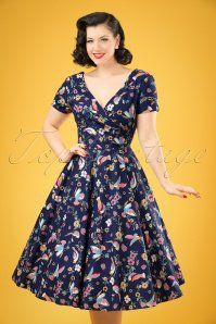 58819b93ba1665 Collectif Clothing Maria Charming Bird Swing Dress 20837 20161128 01W