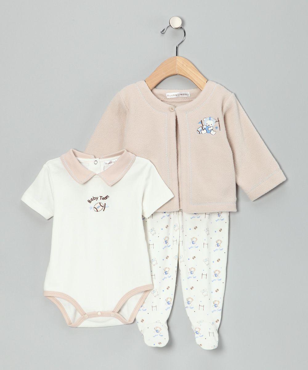 Tan Football Footie Pants Set | Daily deals for moms, babies and kids #FootballForTheLadies