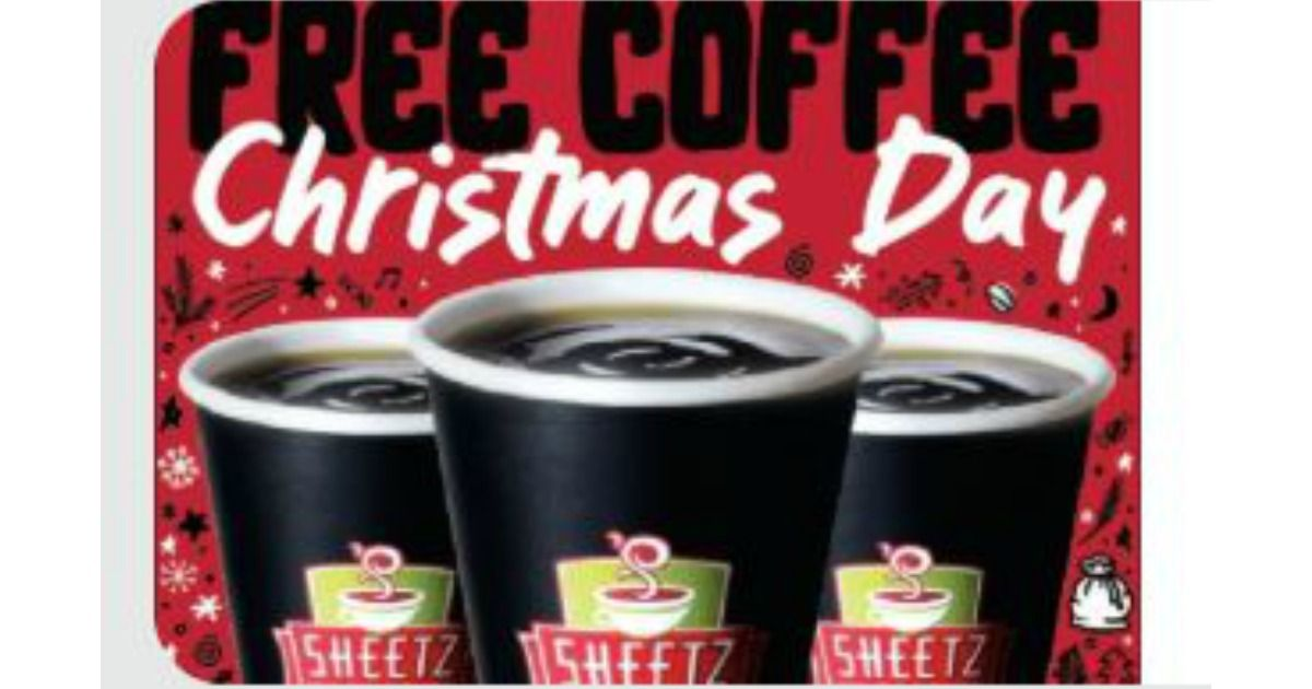 Free coffee at sheetz on new years eve new years day