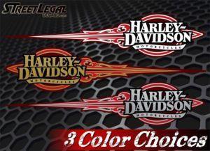 2 Harley Davidson Vinyl Stickers
