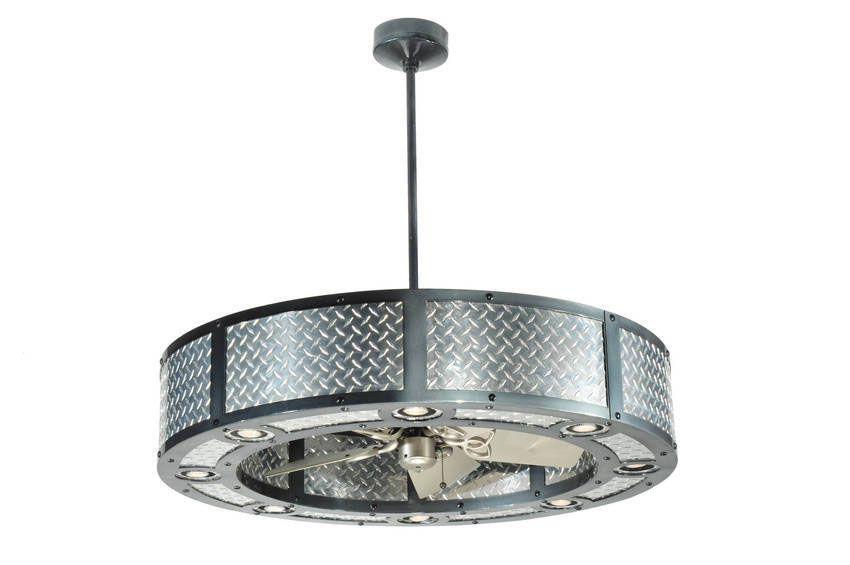Garage Fan Light Meyda Custom Lighting Diamond Plate
