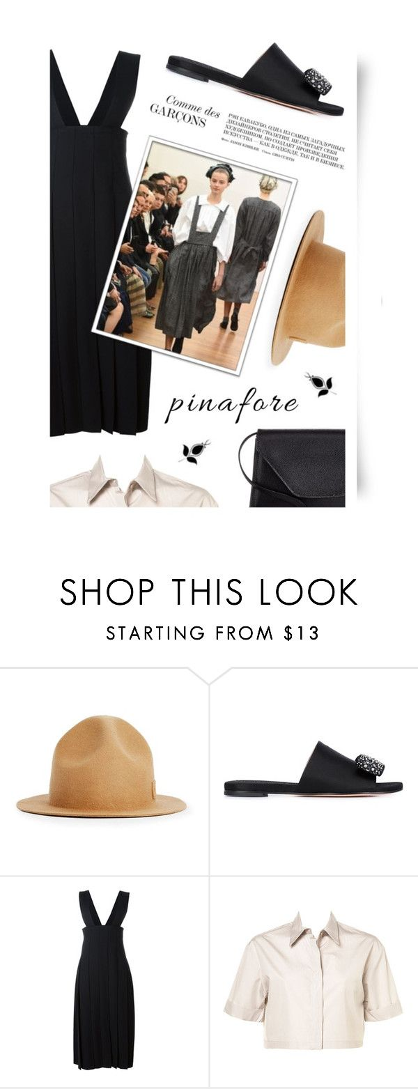 """""""60-Second Style: Pinafores"""" by cultofsharon ❤ liked on Polyvore featuring Topman, Rochas, Comme des Garçons and Valextra"""