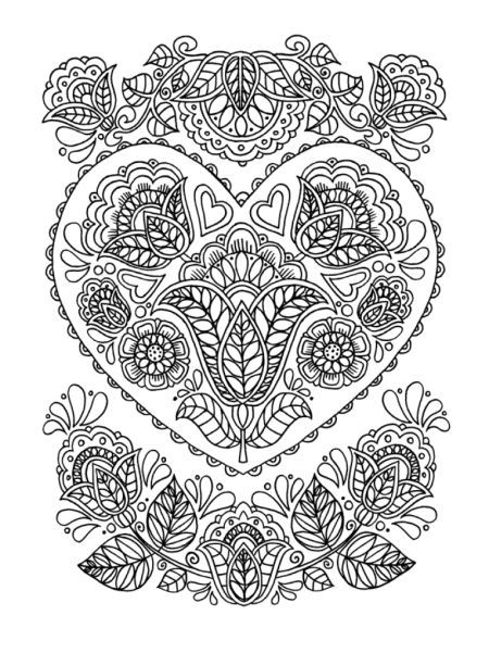 cindy wilde mindful hearts and flowers 100 dpi cindy wilde coloring sheetsadult - Coloring Pages Hearts Flowers