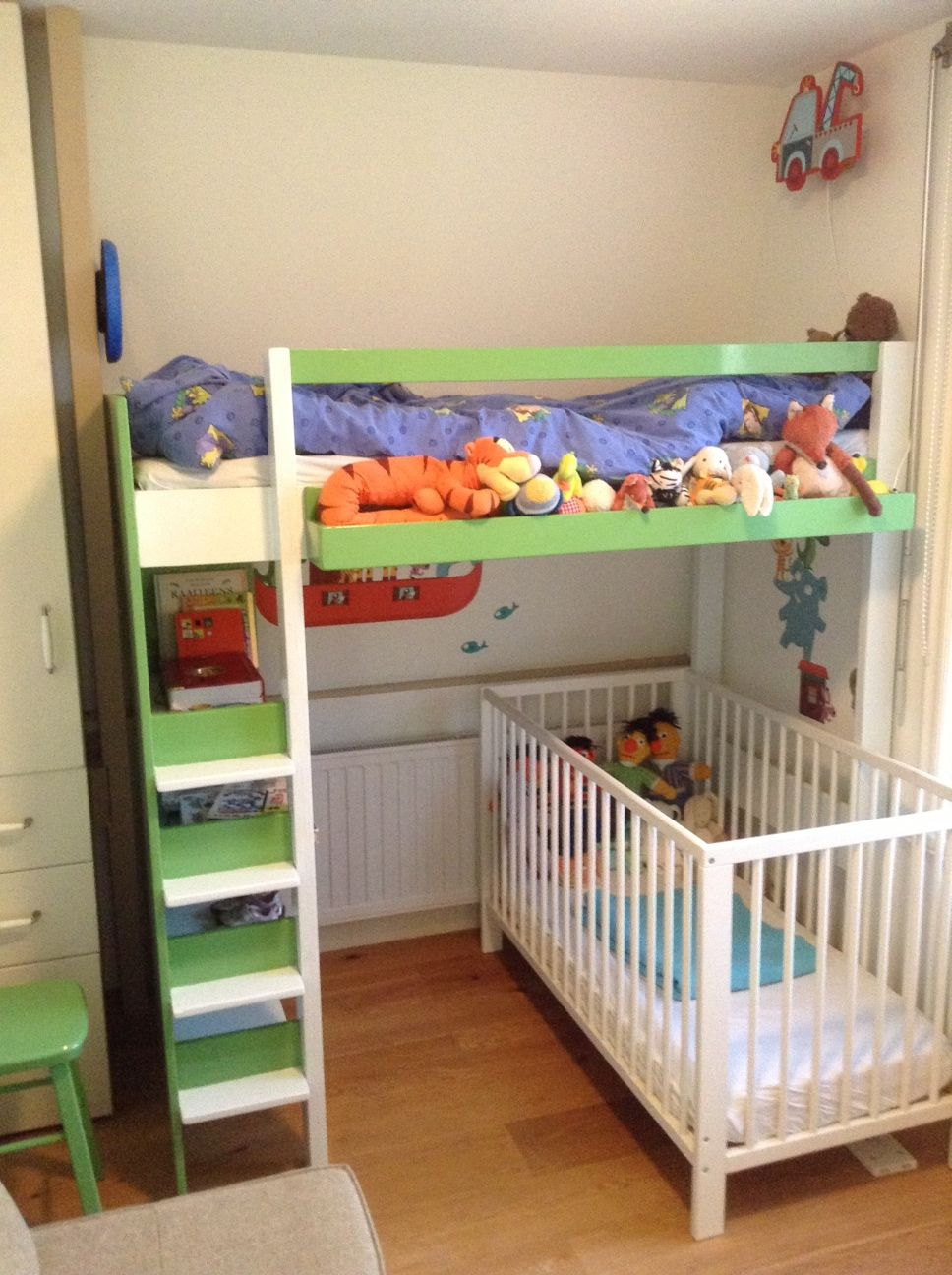DIY loft bed 'Ana' modified and build by Duko | Hoogslaper ...