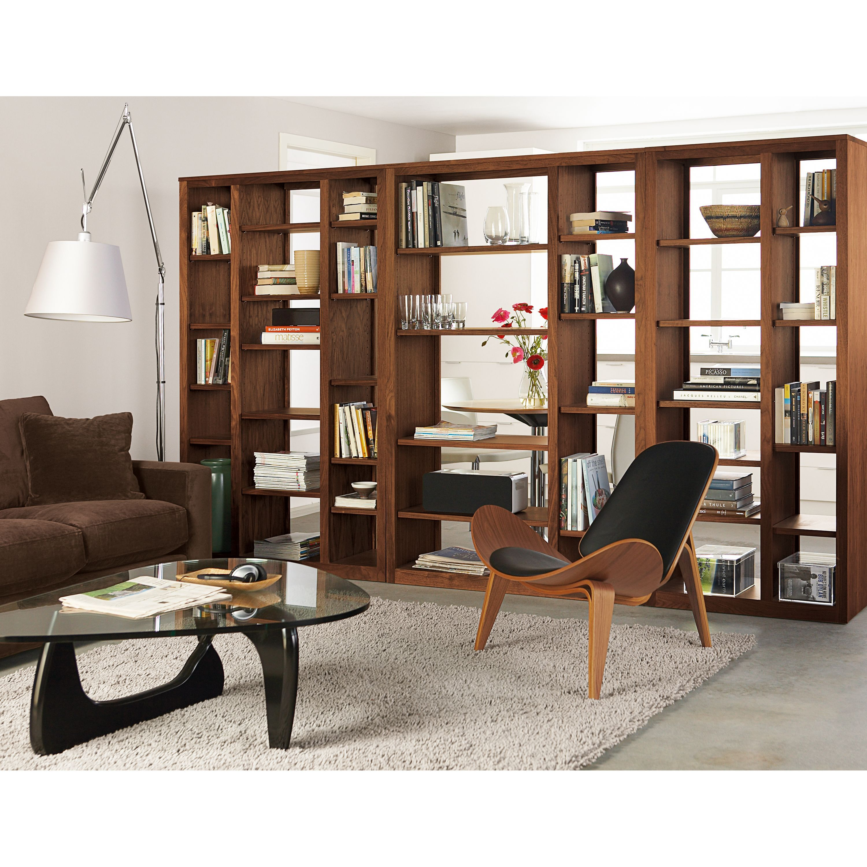 Room Board Woodwind 72h Open Back Bookcase Wall Units In