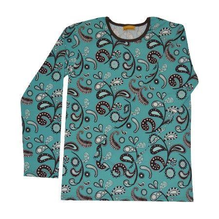 Pitkähihainen paita, Paisley syaani