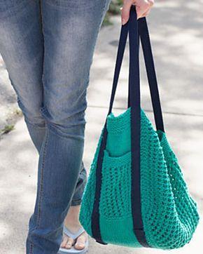 Go Green Market Bag by Lily  Sugar'n Cream (free pattern)