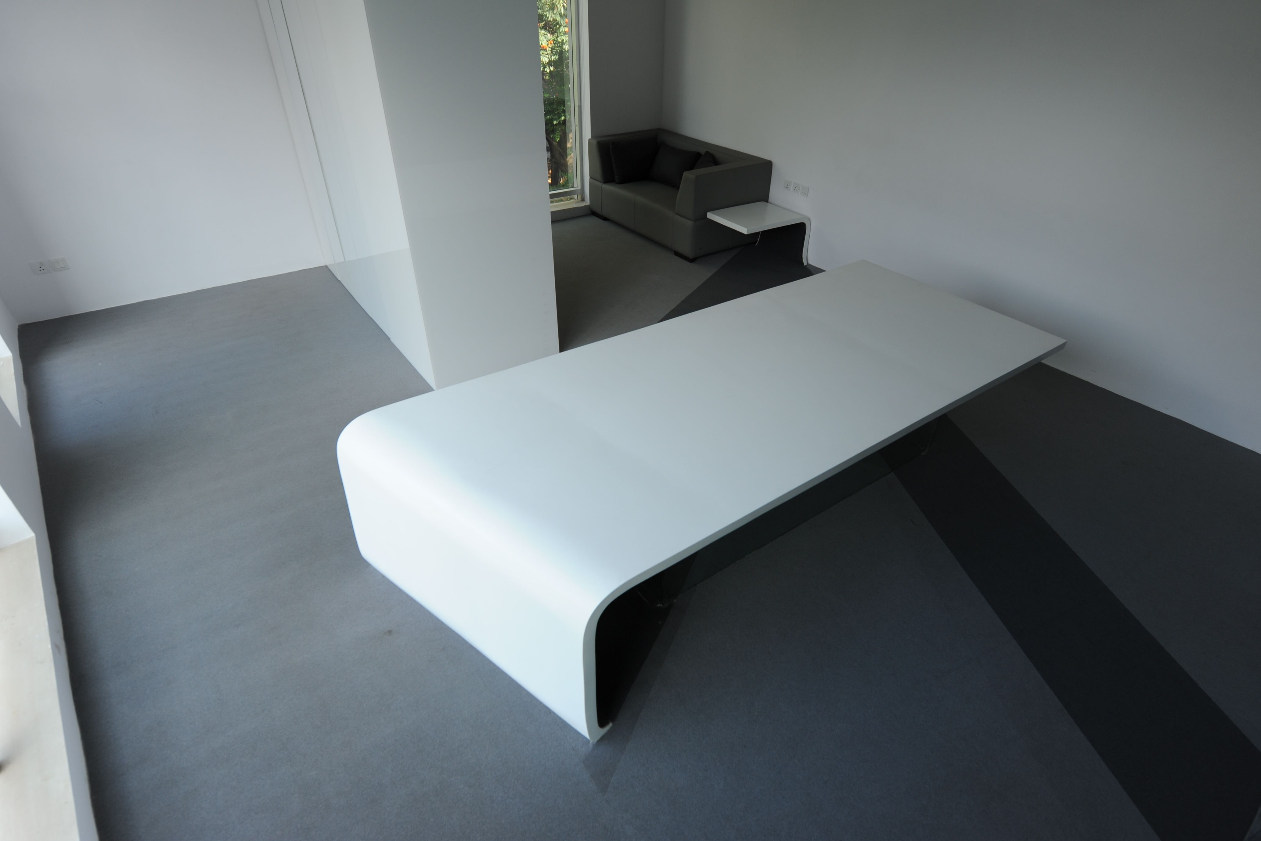 Tavolo Corian ~ White corian office table office table workspace modern