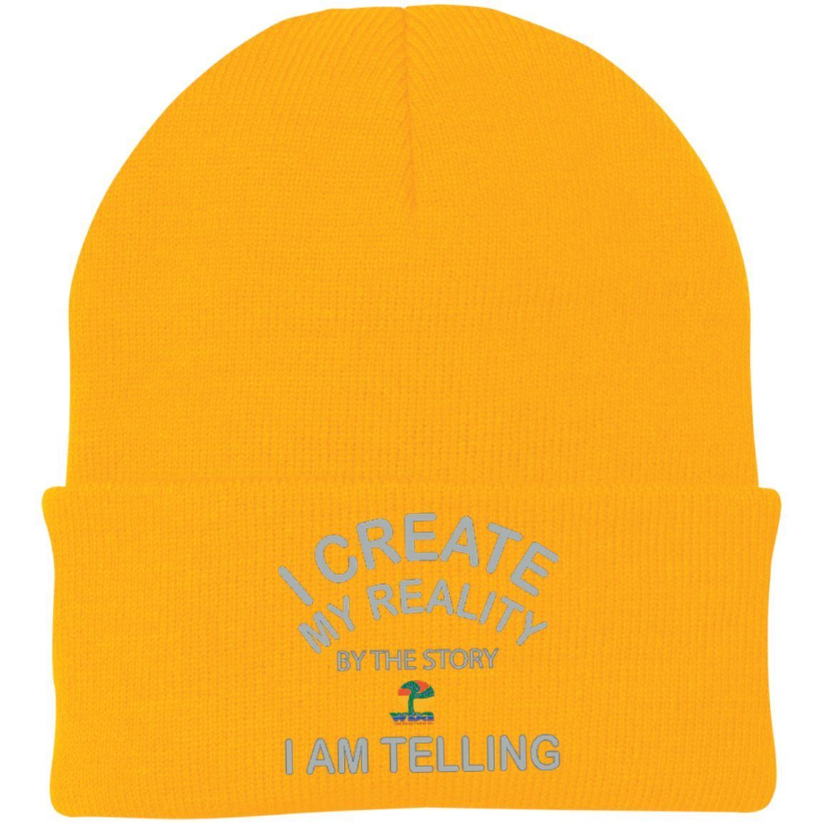 "One Size Fits Most Knit Cap-Positive Spiritual Affirmations LOA ""I Create My Reality. . ."""
