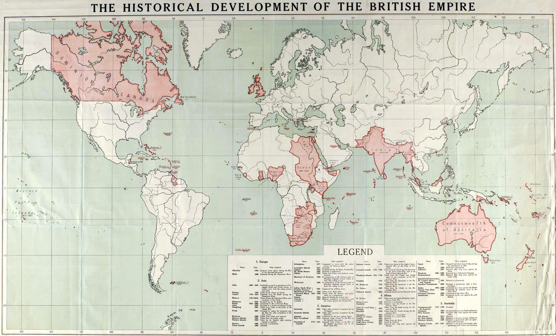 British Empire World Map 1915 #map #britain #uk