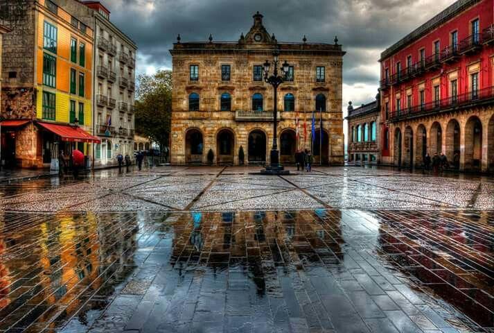Plaza Mayor Gijon   Plaza y Gijon