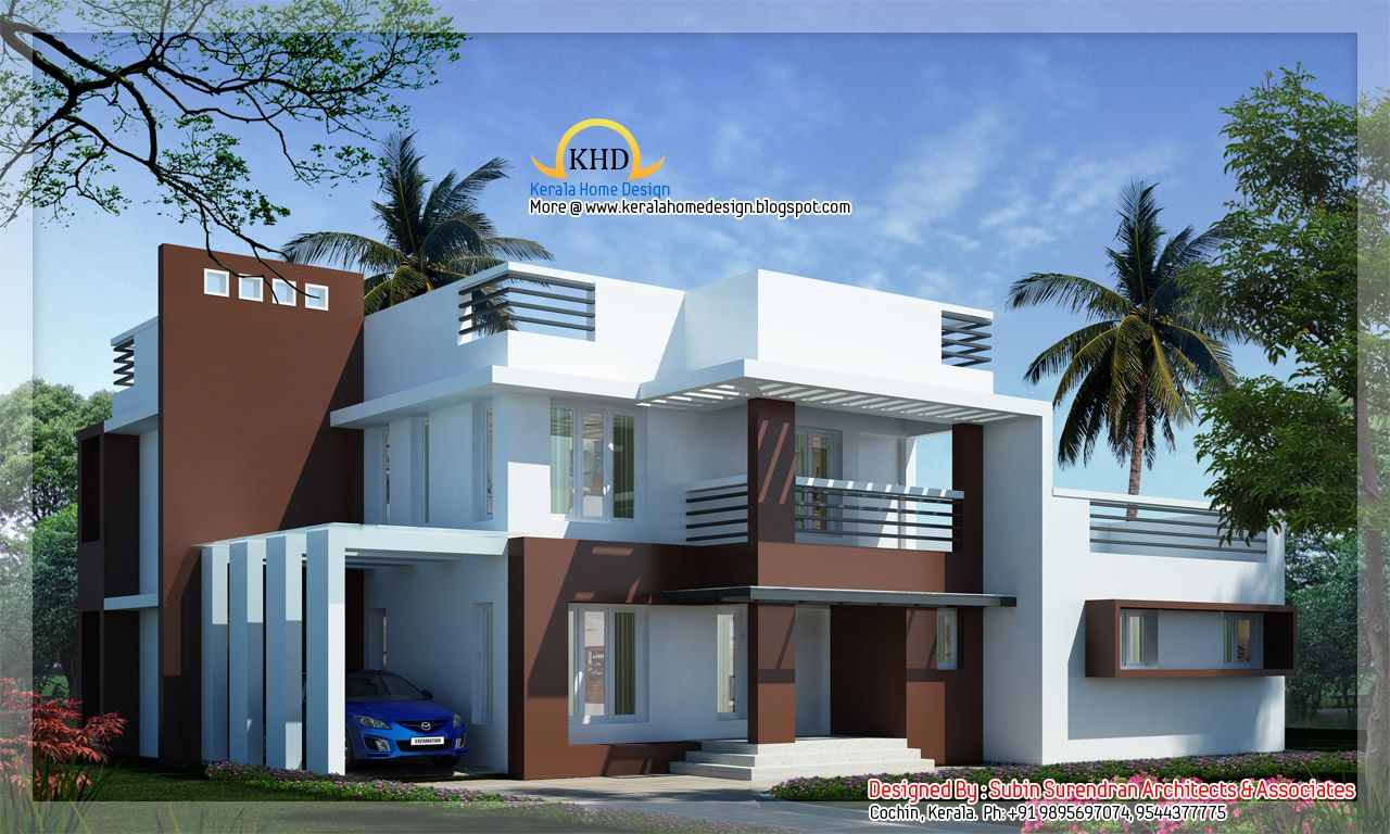 Smartness ideas modern home designs home design plans for Villa moderne plan