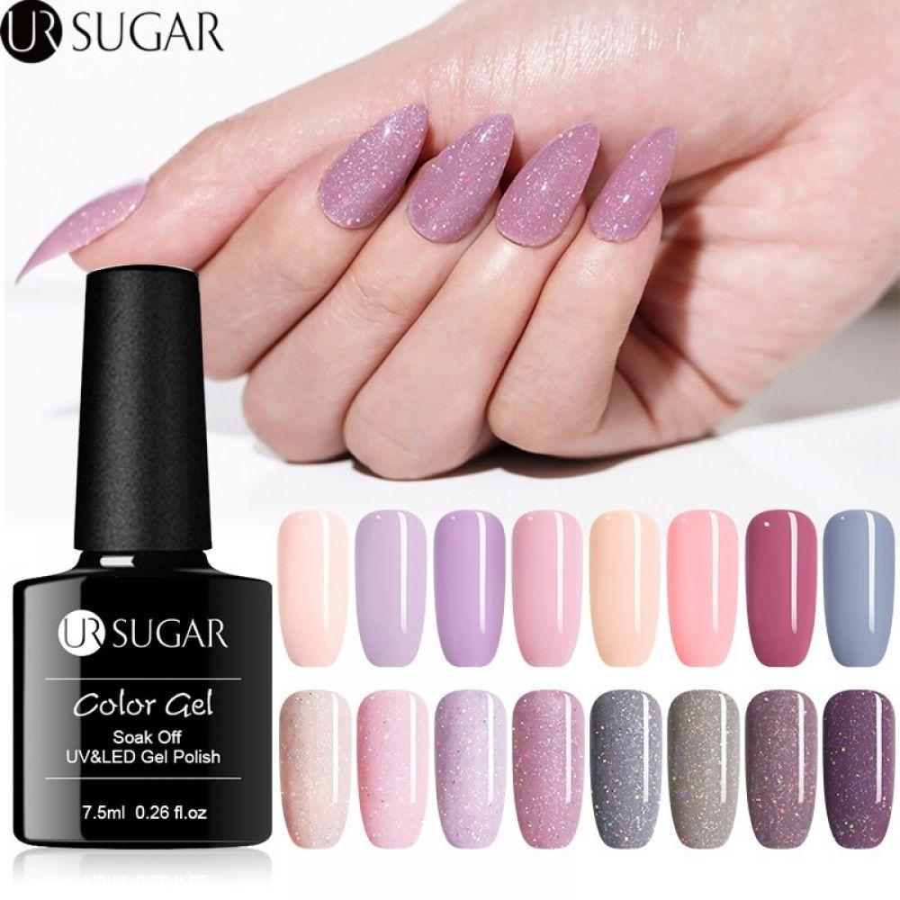 Ur Sugar 7 5ml Holographic Glitter Gel Nail Polish Shiny Glitters Sequins Gel Lacquer Soak Off Uv Gel Varnish Nails Manicure Led In 2020 Glitter Gel Nails Gel Lacquer Glitter Gel