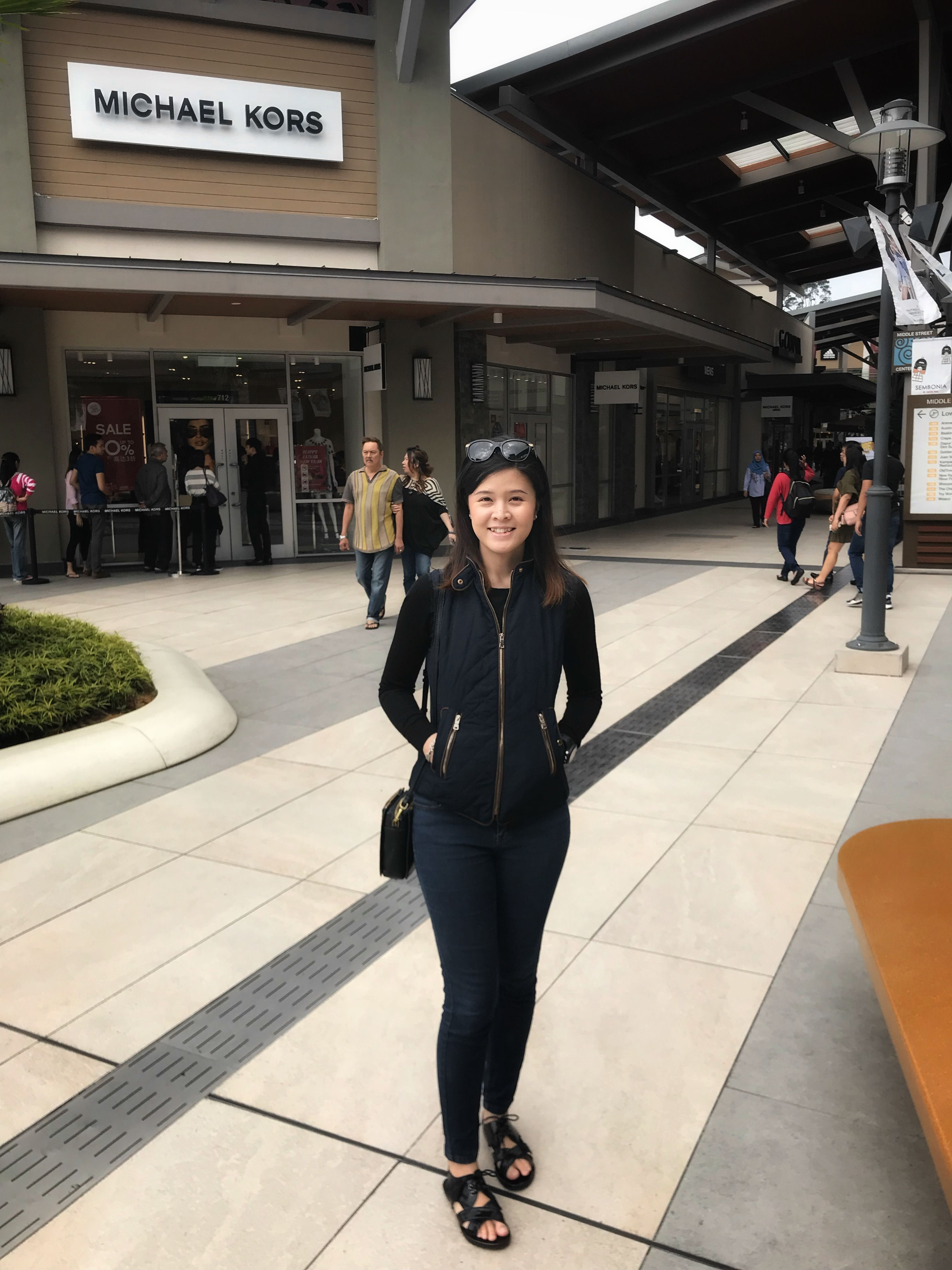 bcc7d2210c OOTD: Sleeveless jacket- Zara , long sleeves - Uniqlo , Crossbody Bag-  Fossil , Jeans - Forever 21, Sunglasses- Burberry, Occasion - Genting  Premium Outlet ...