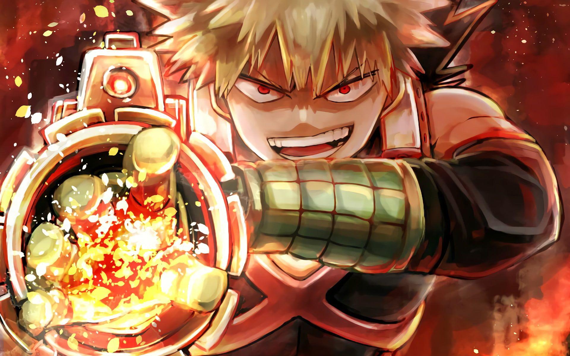 Anime My Hero Academia Katsuki Bakugou 1080p Wallpaper