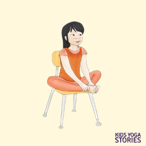 Chair Yoga Poses For Kids Cards Yoga For Kids Chair Pose Yoga Chair Yoga