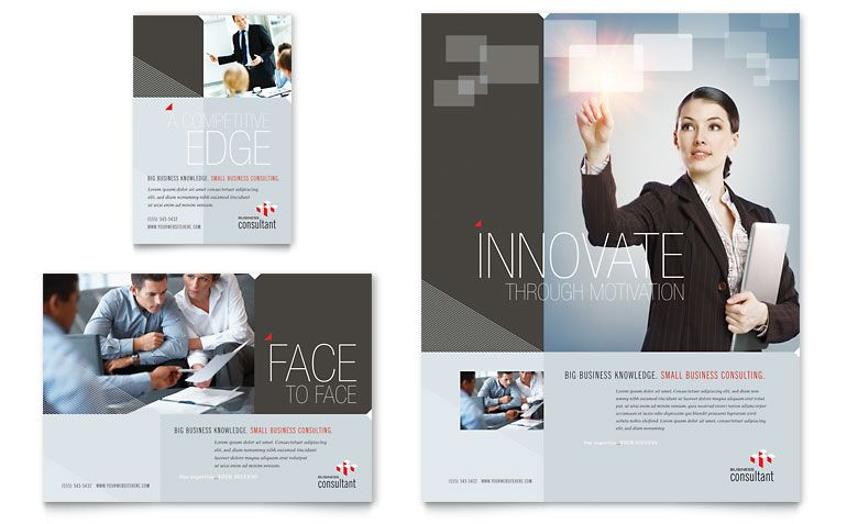 Corporate Business Flyer \ Ad Template - Word \ Publisher PDF - free brochure templates microsoft word