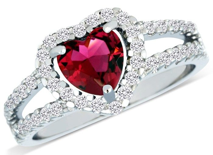 Tanga.com offers 86% Off (Save $129) Sterling Silver Simulated Ruby Diamond  Heart Shaped Ring for $20.99 published in Women Deals Click here to view deals >> http://ift.tt/1QcQrGl