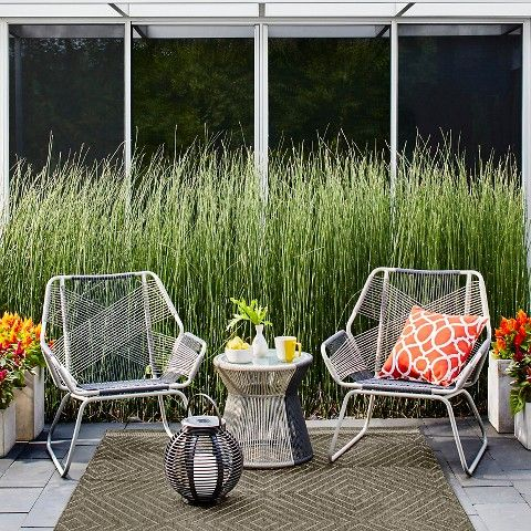 Superb Threshold™ Carag 3 Piece Sling Rope Chat Set From Target   Balcony Furniture