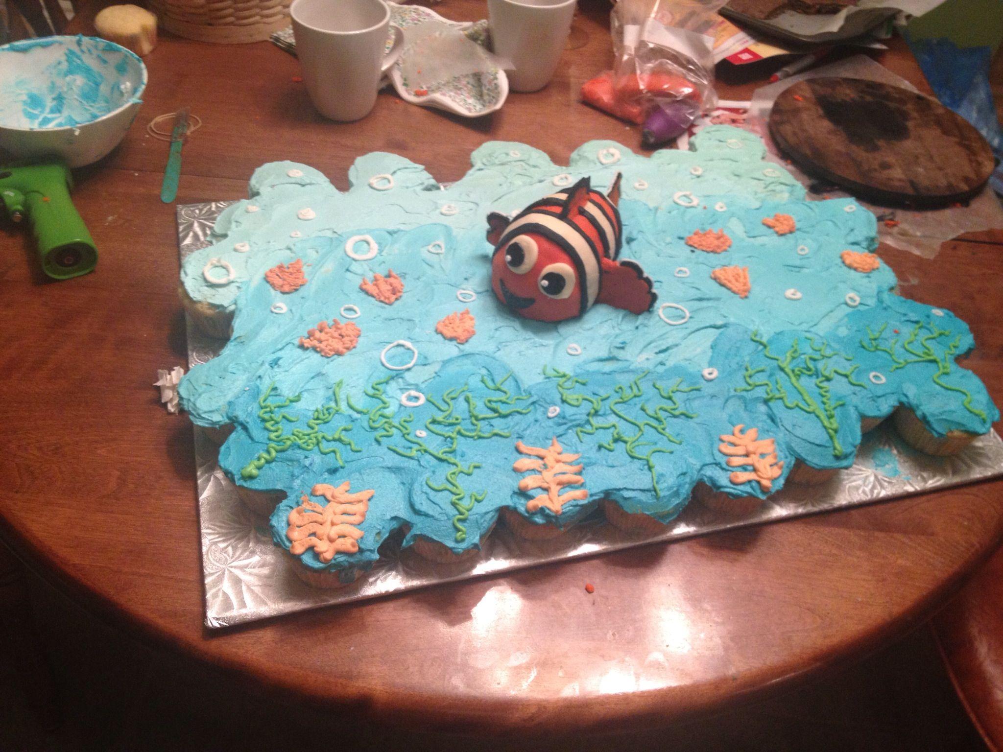 Finding Nemo Baby Shower Cake Cupcake Cakes Cupcake Pull Apart