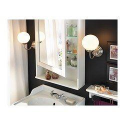 hemnes spiegelschrank 1 t r wei bathroom pinterest spiegelschrank schrank und badezimmer. Black Bedroom Furniture Sets. Home Design Ideas